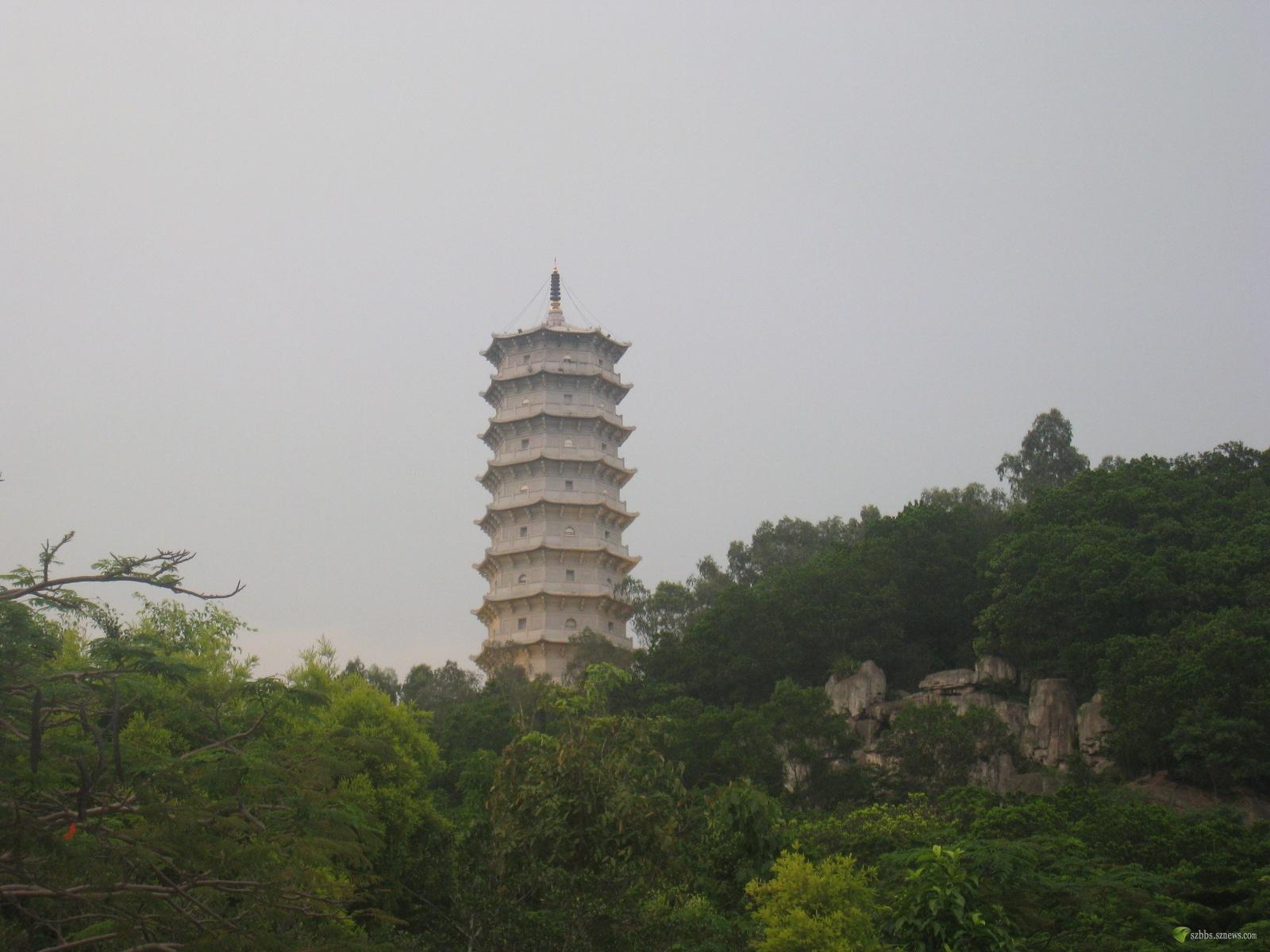 中国书法遍布园博园聚福山登山道 我说深圳事 深圳论坛