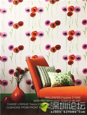 简约温馨现代卧室客厅沙发背景墙墙纸效果图.jpg 高清图片