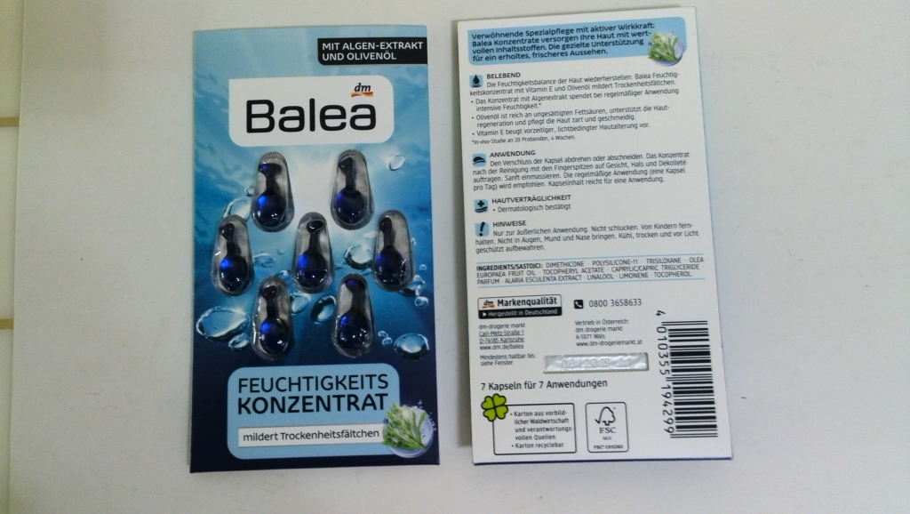 进口德国本土品牌---Balea芭乐雅精华胶囊 (7粒/板)