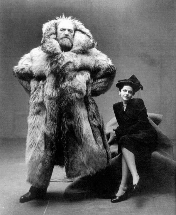 丹麦的北极探险家Peter Freuchen和他老婆。