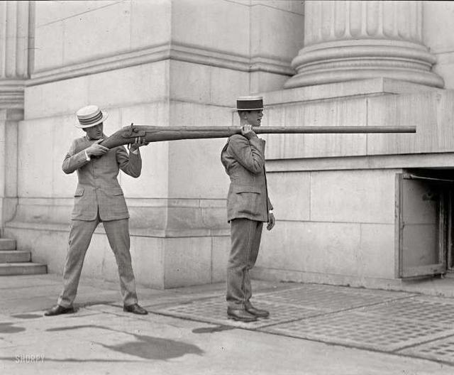 20世纪初,用来射杀鸭子的枪枝。
