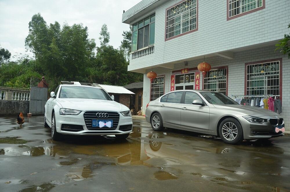 房前院子,准备在房子左侧建几个停车位。