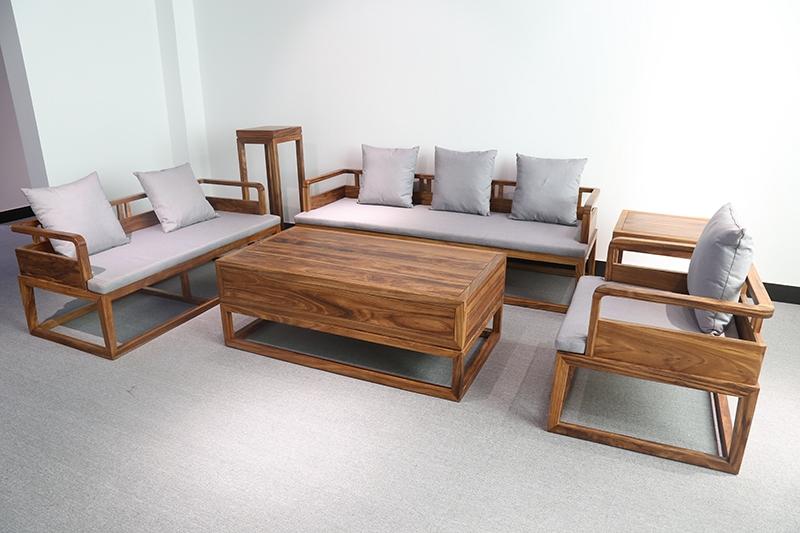 原生态实木沙发六件套