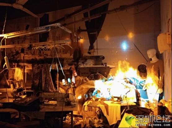 服装厂火灾隐患模拟区