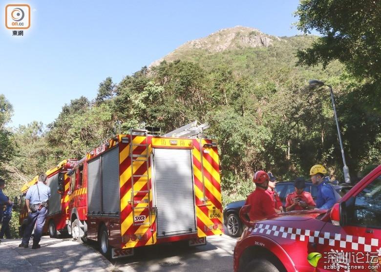 消防到場拯救。(趙瑞麟攝)