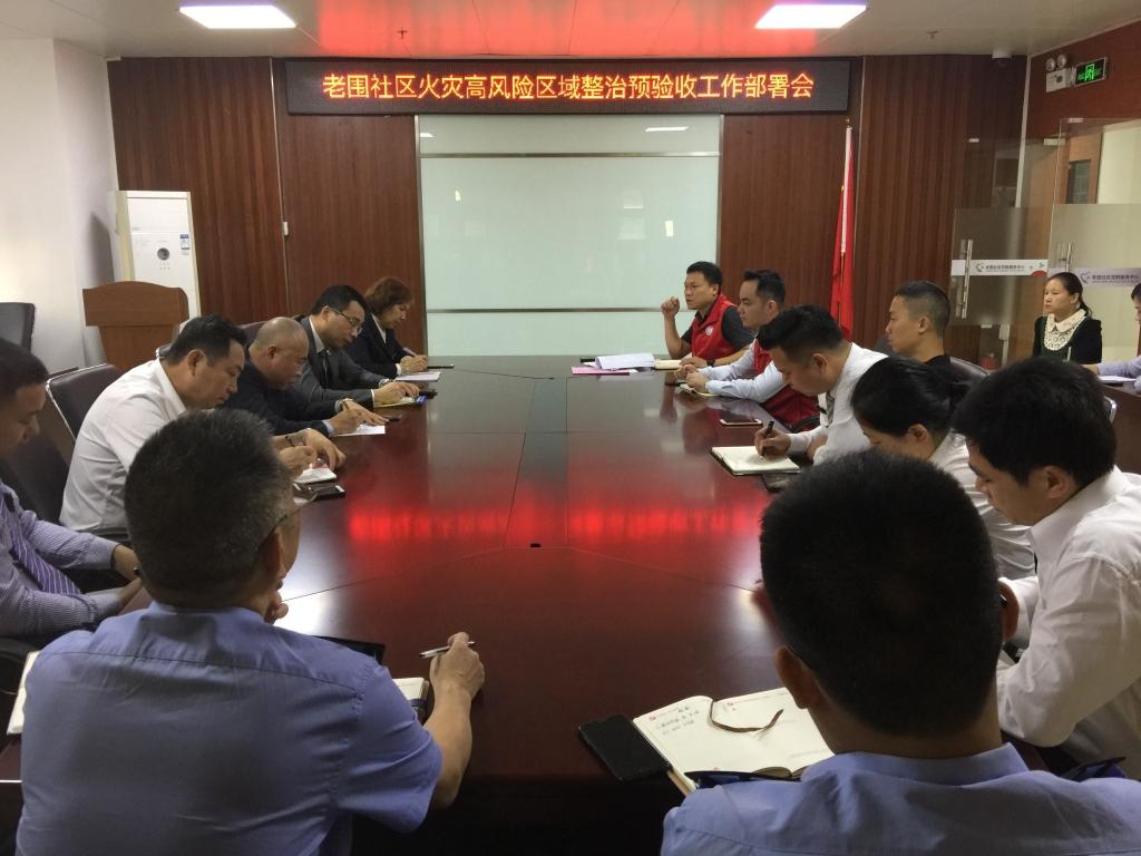 20191113老围社区火灾高风险区域整治预验收工作部署会 (2).JPG