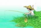 【青松钓鱼童趣】