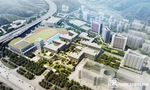 深圳中学泥岗校区示意图