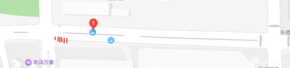 太白中路公交站(南侧)所在人行道.PNG