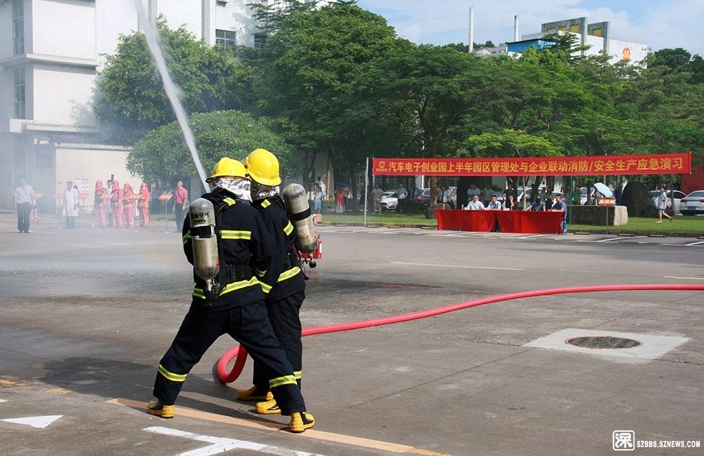 一工业园区内在进行消防演习【p0755123】.jpg