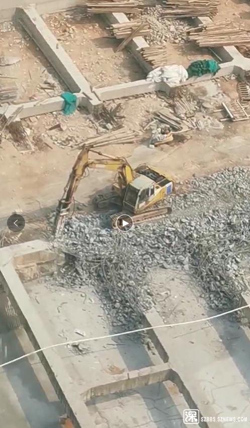 机器拆除作业