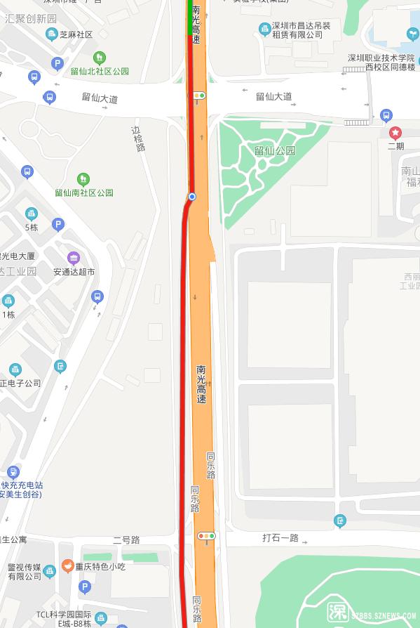 南光高速同乐路出口