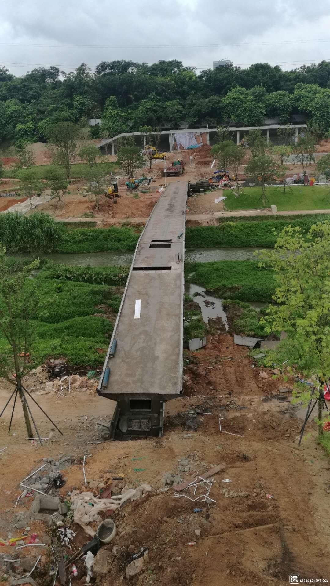 """2019年8月16日的""""危桥""""拆除现场"""