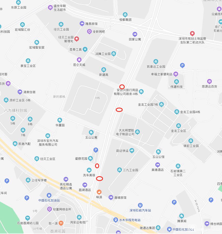 红圈标注的是比较高的路口